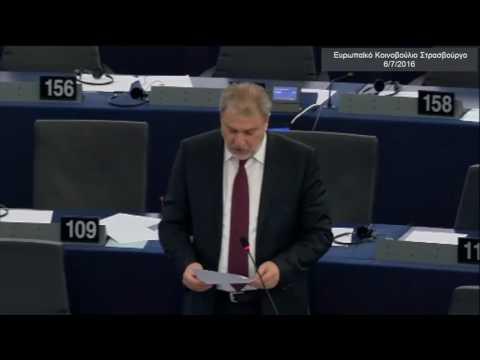 Ο Νότης Μαριάς καταγγέλλει στην Ευρωβουλή το ξεπούλημα του ΟΛΠ στους Κινέζους της COSCO.