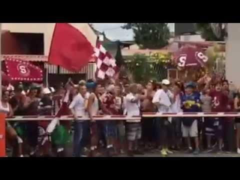 Banderazo de la Ultra Morada-Saprissa previo al clasico semifinal - Ultra Morada - Saprissa
