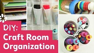DIY Craft Room Organization - YouTube