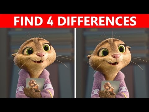 Bet You Can't FIND THE DIFFERENCE! | 100% FAIL | ZOOTOPIA Movie Picture Puzzle