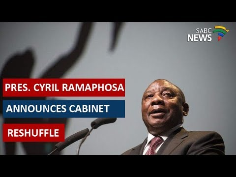 President Cyril Ramaphosa announces cabinet reshuffle