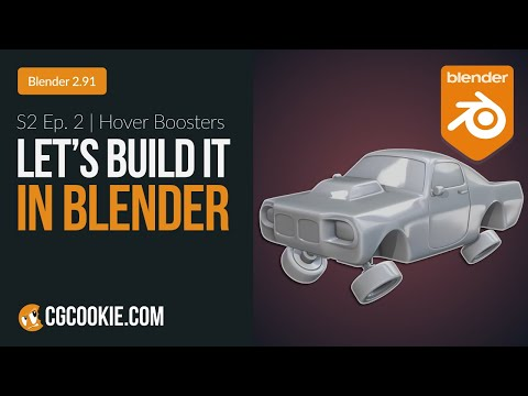 Modeling Car Hover Boosters in Blender | Let's Build It In Blender - Episode 2