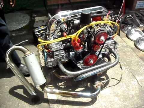 motor de fusca funcionando sem carro