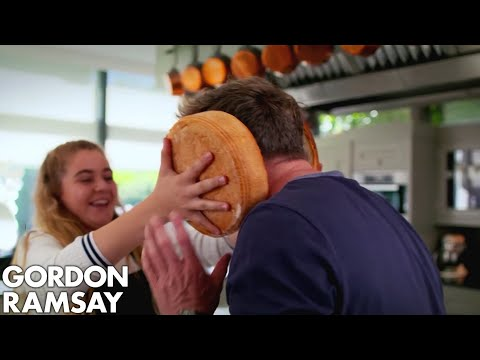 Gordon Ramsay Helps Matilda Cook A Giant Burger
