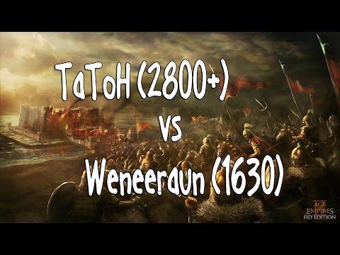 Age of Empires II HD Edition ➤ Weneeraun vs TaToH(-4 minuty)