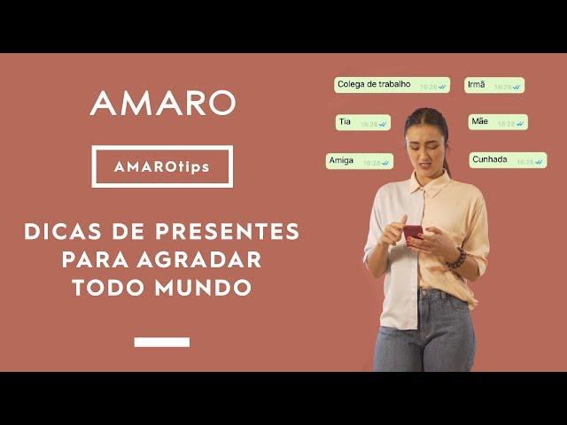 DICAS DE PRESENTES DE NATAL PARA AGRADAR TODO MUNDO | #AMAROtips - Amaro