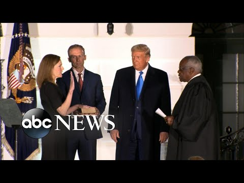 Amy Coney Barrett is sworn in as Supreme Court justice
