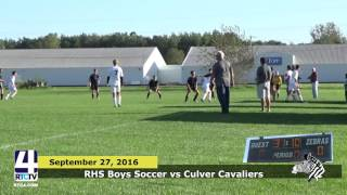 RHS Boys Soccer vs Culver Cavaliers