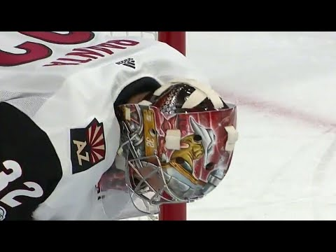 Video: Raanta pulled after Golden Knights score third goal of the first period