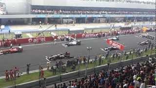 Indian Grand Prix F1 Start Sound 2012 Formula one