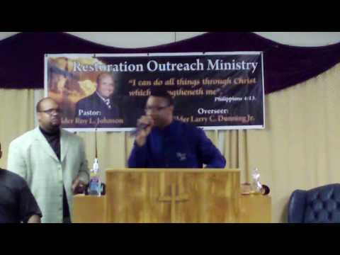 Elder Marvin  Morris @ R.O.M.I. Pastor Roy Johnson  Youth Co