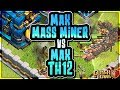 MASS MAX MINER ATTACK vs MAX TOWN HALL 12 BASE | Clash of Clans