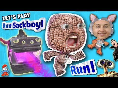 Let's Play RUN SACKBOY RUN!  What's A Turd Pole?  FGTEEV DAD & MOM Gameplay (Little Big Planet Fun!)