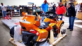 6. 2014 Can-Am Spyder RT-S Assembly & Test Ride!  | ShopTalk