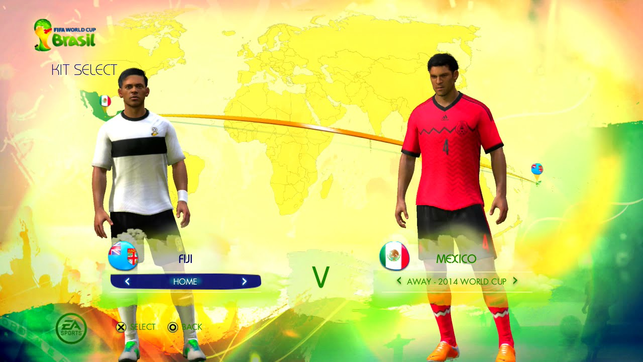 Fiji vs Mexico Group C Game Pretend Olympic Games Using 2014 FIFA World Cup Brazil
