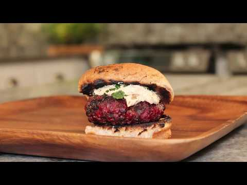 Balsamic Glazed Burgers with Goat Cheese Spread