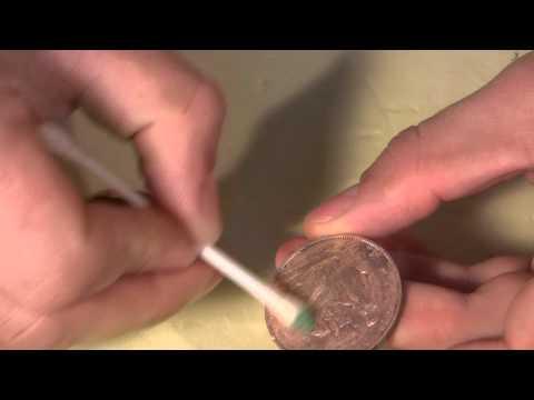 Очистить медные монеты от окиси в домашних  608