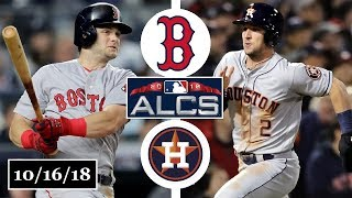 Boston Red Sox vs Houston Astros Highlights || ALCS Game 3 || October 16, 2018