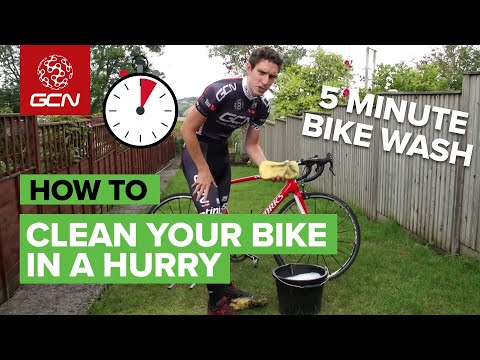 5 minute - A clean bike is a happy bike. You might not think you have the time, but you do - here's Simon Richardson's 5 minute bike wash. Subscribe to GCN on YouTube: ...