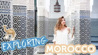 Travel vlog diary of my time exploring Marrakesh, Morocco - it was a beautiful adventure seeing the culture, going to souks & camel riding in the desert!