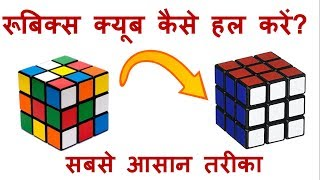 How to Solve Rubiks Cube 3x3x3- Easiest Tutorial in Hindi
