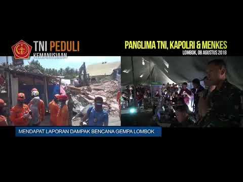 Panglima TNI, Kapolri dan Menkes Tinjau Korban Gempa di Lombok