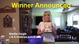 "Winner of my Rambling Rose mini album announced in this video.  This scrapbook album mini album is 6-1/2"" x 8-1/2"". I used Rambling Rose paper to create it.  Album designed by Shellie Geigle.  Winner to has until August 31, 2017 to contact through email   shellie@jshobbiesandcrafts.com to claim their prize.  If no claim, another winner will be drawn."