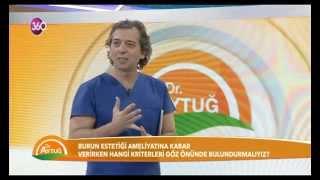 Op. Dr. Mustafa Ali Yanık Dr. Aytuğ'un programında burun estetiği ile ilgili bilgi veriyor.