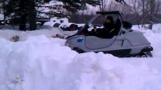 8. Al driving the skidoo elite