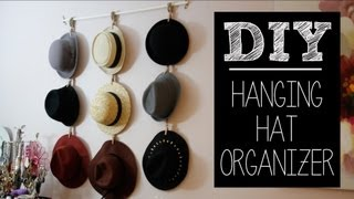 DIY Hat Hanger/Organizer (Easy) | beautybitten - YouTube