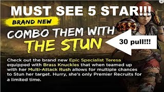 Walking Dead : Road to Survival - NEW EPIC TERESA 30 PACK OPENING - MUST SEE!!!