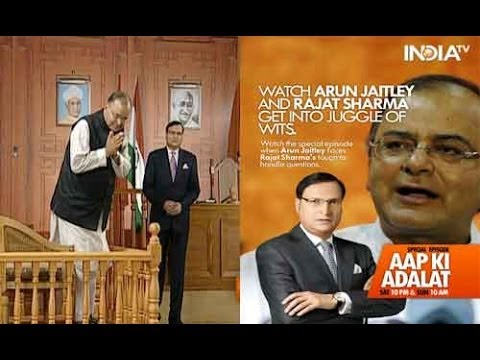 Aap - Watch BJP leader, Arun Jaitley grilled by India TV's Editor-in-chief Rajat Sharma in Aap Ki Adalat. For more content go to http://www.indiatvnews.com/video/ ...