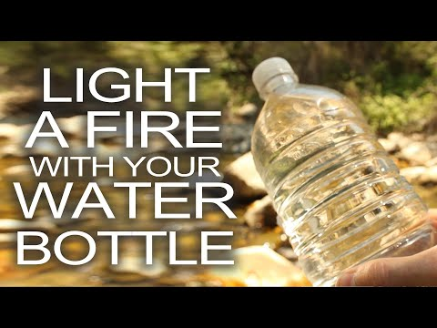 Fire - Here's a technique you can use to start a fire for survival if you having nothing but a water bottle and a bright sunny day. If you like survival and fire-ma...