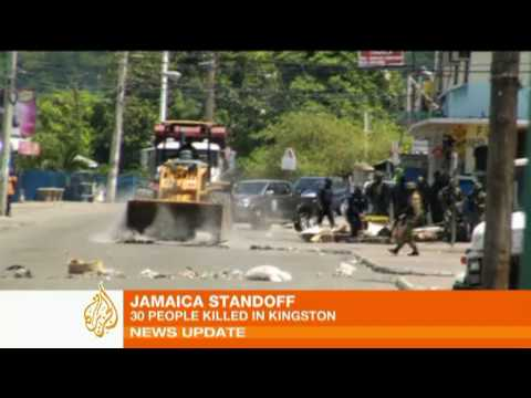 Hunt for drug kingpin sparks Jamaica unrest