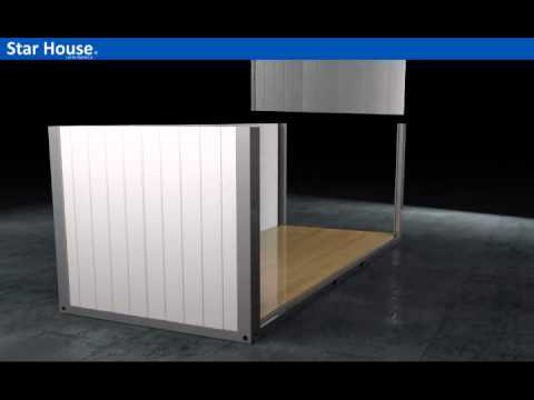 Flat pack container house from star house