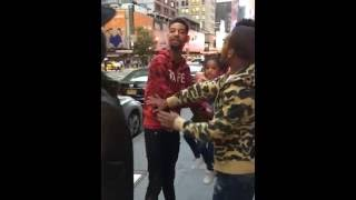 PNB Rock Gets Pranked In New York And Almost Gets In Fight Because Guy Makes His Daughter Cry (PNB M