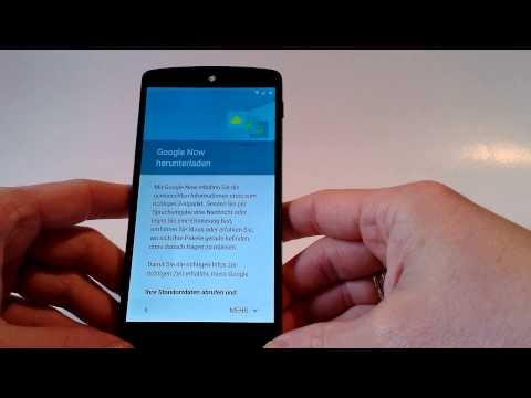 Android 5.0 Erstes Setup mit NFC