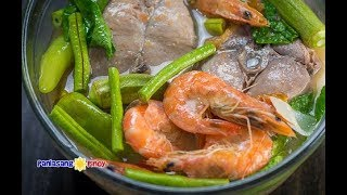 This video will show you how to cook Seafood Sinigang. This is a version of Filipino sinigang (sour broth soup) wherein I used ...