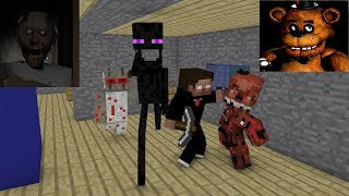 Video Monster School : GRANNY & FNAF HORROR CHALLENGE - Minecraft Animation MP3, 3GP, MP4, WEBM, AVI, FLV Oktober 2018