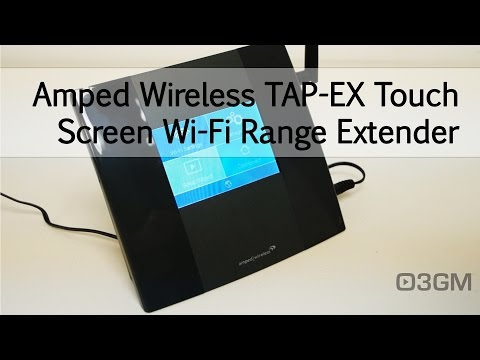 #1659 - Amped Wireless TAP-EX Touch Screen Wi-Fi Range Extender Video Review