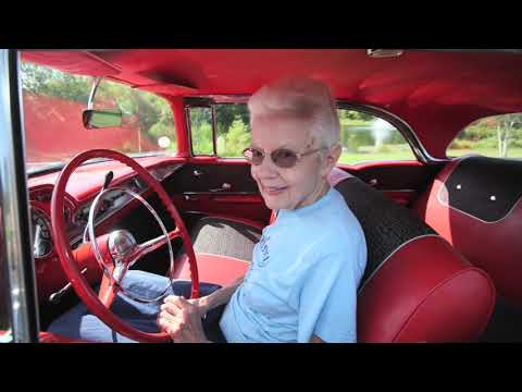 A Woman Shows Off Her 1957 Chevy The Only Car She  s Driven Since Buying It New in