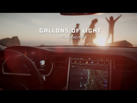 Gallons - Go behind the scenes at: http://www.gallonsoflight.com On January 3rd, the Knapp family took a road trip in their new Tesla Model S. Using free, solar-powered Superchargers all the way.