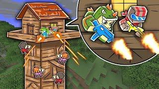 Minecraft Fortnite - TOWER FORT DEFENSE! (FORTNITE BATTLE ROYALE CHALLENGE)