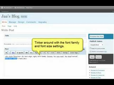 Guide to blogging in Dhivehi using WordPress
