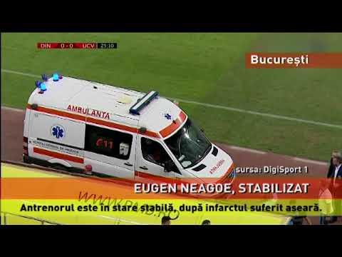 Antrenorul Eugen Neagoe, stabilizat după infarct