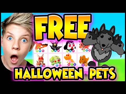 How To Get FREE HALLOWEEN PETS in Adopt Me!! 100% WORKS!! Prezley