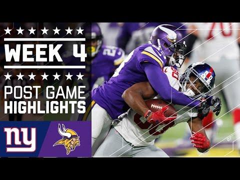 Giants vs. Vikings | NFL Week 4 Game Highlights