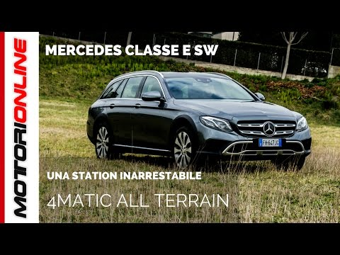 mercedes classe e station wagon 4matic all terrain - test in anteprima