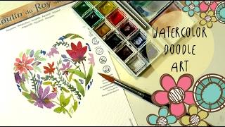HOLA AMIGOS FANTASTICOS! En este video VAMOS A HACER UNA DOODLE ART de San valentin con acuarelas. Vamos a pintar flores de una forma muy facil perfecta para principiantes. Una idea de pintura super divertida para decoraciones en forma de corazon.