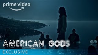 American Gods uncovers a power struggle between the traditional gods of mythological roots and an upstart pantheon of gods whose behaviour reflects modern society's love of money, technology, media, celebrity and drugs. American Gods is based on the award-winning novel by Neil Gaiman and produced by Bryan Fuller. The Season stars Ricky Whittle, Ian McShane, Emily Browning, Gillian Anderson, and Orlando Jones.» SUBSCRIBE: http://bit.ly/AmazonPrimeVideoUKSubscribe» Watch American Gods on Amazon Prime Video: http://bit.ly/AmazonPrimeVideoAmericanGodsFollow American Gods:Facebook: http://bit.ly/APVAmericanGodsFacebookTwitter: http://bit.ly/APVAmericanGodsTwitterInstagram: http://bit.ly/APVAmericanGodsInstagramAbout American Gods:American Gods uncovers a power struggle between the traditional gods of mythological roots and an upstart pantheon of gods whose behaviour reflects modern society's love of money, technology, media, celebrity and drugs. American Gods is based on the award-winning novel by Neil Gaiman and produced by Bryan Fuller. The Season stars Ricky Whittle, Ian McShane, Emily Browning, Gillian Anderson, and Orlando Jones.Get More Amazon Prime Video UK: Watch More: http://bit.ly/WatchAmazonVideoNowFacebook: http://bit.ly/AmazonPrimeVideoUKFacebookTwitter: http://bit.ly/AmazonPrimeVideoUKTwitterInstagram: http://bit.ly/AmazonPrimeVideoUKInstagramTumblr: http://bit.ly/AmazonPrimeVideoUKTumblrAbout Amazon Video:Want to watch it now? We've got it. This week's newest movies, last night's TV shows, classic favorites, and more are available to stream instantly, plus all your videos are stored in Your Video Library. Over 150,000 movies and TV episodes, including thousands for Amazon Prime Video members at no additional cost.American Gods Episode 6 - Behind the Scenes  Amazon Prime Videohttps://youtu.be/Qwt9lvA2aUAAmazon Prime Videohttps://www.youtube.com/c/amazonvideouk